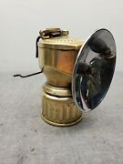 Vintage Justrite Streamlined Carbide Miners Lamp 3 Reflector