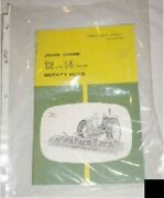 John Deere Tractor Antique Parts Book 12 14 Rotary Hoes