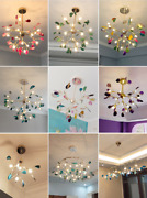 Luxury Agate Led Ceiling Fixture Colorful Pendant Lighting Firefly Ceiling Lamp