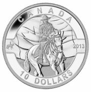 2013 O Canada The Royal Canadian Mounted Police 10 Silver Coin Rcmp