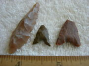 Hand Scraper Point Lot Early Man Paleolithic Acheulean Tools Africa Set-3 Ca72