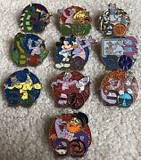 Complete Set Of 10 Epcot 30th Figment Anniversary Mystery Pin Set Attractions