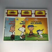 Charlie Brown's All-stars Tapes Snoopy And Friends Charles Schulz Golden Books