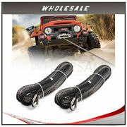 2x Synthetic Winch Rope 10mm X 30m Line 23000lb Heavy Duty Off - Road