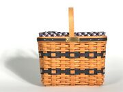 Longaberger Jw Mini Bread And Milk Basket 2000 W/ Signatures, Liner, And Protector