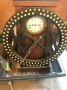 Antique International Time Recording Co. Large Time Clock Used In Early 1900and039s