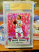 2018 Leaf Metal Prized Rookies Lamelo Ball🏀prismatic Pink Wave 🔥hot🔥1/1