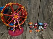 Lalaloopsy Mini Lot Mini Dolls, Accessories, Ferris Wheel And House Carry Case