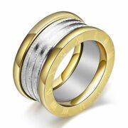 Rings Stainless Steel Antique Retro Jewelry Engagement Wedding Party Women Men