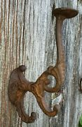 Choice Of 1 Or More From 11 Antique Large Cast Iron Hooks Fantastic Patina