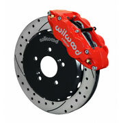 Wilwood For Honda S2000 Superlite Hat Brake Kit Narrow Front 12.88in Drilled Red