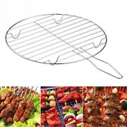 1pc New Grilling Basket Stainless Steel Round Grill Electric Ceramic Stove Light