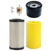 Air Filter Oil Filter For Poulan Pro Pb185a42 Riding Tractor 42 Deck 18.5 Hp