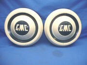 2 Vintage 1950and039s Gmc Truck Dog Dish Hubcaps