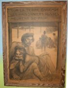 1917 Wwi French Poster Russian Prisoners Ta Steinlen Framed Internment Camp