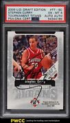 2009 Upper Deck Draft Edition Stephen Curry Rookie Rc Psa/dna Auto Psa 6 Ex-mt