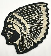 Vintage Felt Indian Chief Patch Boy Scouts  Indian Motorcycle