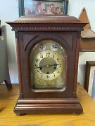 Antique Junghans German Westminster Mantle Clock Gossard Jeweler No Key Works