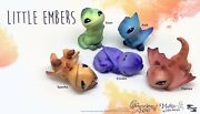 Toynami Miyoand039s Little Embers Blind Box Dragons Set Of 5 - Rare Hard To Find