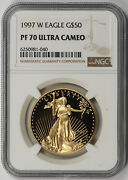 1997-w American Gold Eagle 50 One-ounce 1 Oz Proof Pf 70 Ultra Cameo Ngc