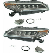 For Acura Tlx Headlight 2015-2017 Pair Rh And Lh Side Ac2502127 | 33150-tz3-a01