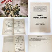 Rare Wwii Restricted 1942 Japanese Tactical Methods Us Paratrooper Book Relic