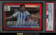 2014 Panini Prizm World Cup Net Finders Red Lionel Messi /149 2 Psa 9 Mint