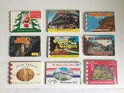 Mini Souvenir Photo Books / Packs Lot Of 9 Cypress Gardens Howe Caverns And More