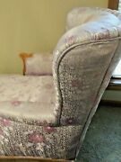 19th Century French Louis Xvi Style Chaise Lounge, Lavender Silk Re-upholstered