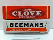 Two Vtg 1995 Mexican Chewing Gum Wrappers - Full Packs Adams Clove And Beemans