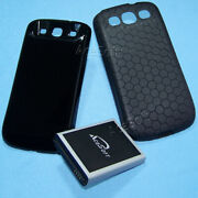 Acesoft 7570mah Extended Li_ion Battery Cover Case For Samsung Galaxy S3 I535 Us