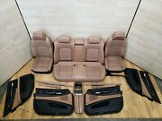 ✅ 13-15 Bmw F01 Door Panels Front Rear Heated Seats Leather Brown Interior Set