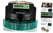 Hardaway Electric Automatic Coin Sorter And Counter Machine Large Led Digital