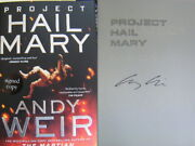 Signed Book Project Hail Mary By Andy Weir Hardback 1st Edition 2021