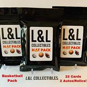 Nba Hot Pack 22 Total Cards With 2 Autos/relics 7 Rookies.repack Read Desc.