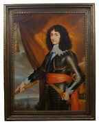 English King Charles Ii Officer Portrait Oil Painting On Canvas Nautical 50
