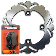 Front High Performance Brake Disc Rotor + Pads For Honda Xr650l [1993-2021] New