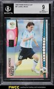 2006 Panini World Cup Germany Lionel Messi 47 Bgs 9 Mint