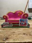 Lalaloopsy Pink With Orange Trim Couch Fits 2 Dolls 12 Inch Full Size New