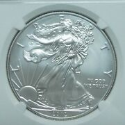 2012 W Burnished 1 American Eagle Silver Dollar Ngc Ms70 .first Releases