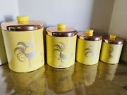 Vintage Ransburg Rooster Canisters