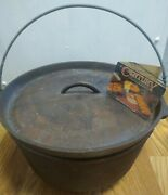 Vintage Cast Iron Dutch Oven Footed With Lid 12 W/ Tag Century Made In Usa