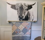 Highland Cow Country Home Decor Kitchen Dining Room Canvas Photo Print Wall Art