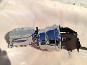 Ford Fairlane Ranchero 7 Chrome Power Brake Booster And Flat Top Master Cylinder