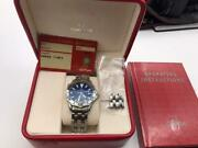 Omega Seamaster Pro 300m Full Size 41mm Electric Blue Dial Swiss Automatic W Box