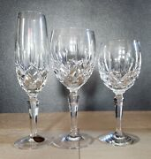 Gorham Lady Anne Crystal Water Goblet Wine Glass Champagne Flute