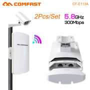 3km 5.8g 300mbps 2pc Wireless Access Point Bridge Cpe Wifi Range Extend Repeater