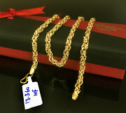 18 Kt Hallmark Real Solid Yellow Gold Curb Cuban Necklace Menand039s Chain 13.360 Gms