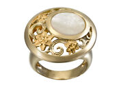 Fine Jewelry 18 Kt Hallmark Real Solid Yellow Gold Opal Womenand039s Ring Size 678