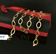 18 Kt Hallmark Real Solid Yellow Gold Curb Cuban Necklace Menand039s Chain 14.560 Gm